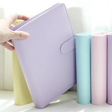 """""""Macaron"""" Planner Agenda Scheduler A5 A6 Faux Leather Cover Loose Leaf Notebook Weekly Monthly Lined Ring Binder Organizer"""