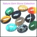 7 pcs nature gem stone cabochon turquoise sodalite tiger eye jade black onyx rose quartz indian agate stone size 15x20mm