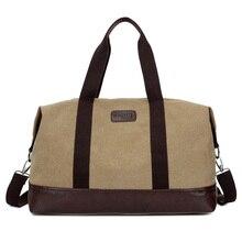 2017 New Men's Handbag Casual Canvas Shoulder Bag Large Capacity Canvas Men's Travel Bags Portable Computer Duffel Bag 1316