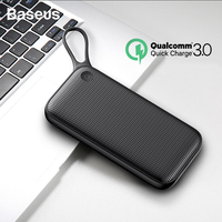 Baseus 20000mAh Quick Charge 3.0 Power Bank Type C PD Fast Charging External Battery Charger Power Bank for iPhone Xs Samsung S9
