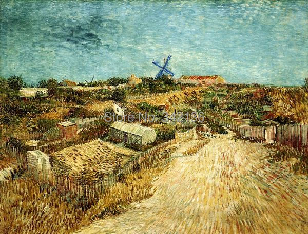 Realistic oil painting Vegetable Gardens in Montmartre by Van Gogh ...