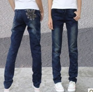 2016 Limited Jeans Woman The New Version Of Code Elastic Thin Loose Waist Jeans Straight Legged Pants Trousers Female Students