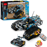 New fit legoings technic MOC RC TRACKED Stunt RACER car Electric Motor Power Function city Building Block brick Model kid gift