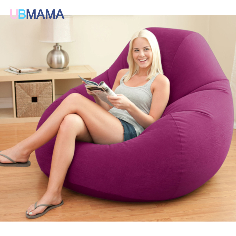 Modern Double Seat Inflatable Sofa Leisure Living Room Furniture Comfortable Recreational Flocking PVC Lounger Sofa Chair A228