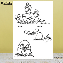 AZSG Easter Egg/ Hen Clear Stamps For DIY Scrapbooking/Card Making/Album Decorative Silicon Stamp Crafts