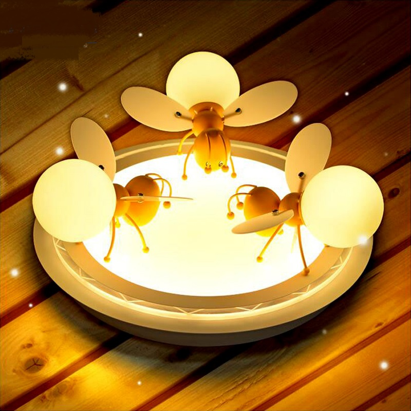 childrens room LED ceiling lights large living roombedroom warm Boy girl cartoon personality ceiling lamp ZA621 ZL208