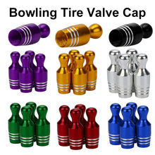 4x Aluminum Bullet Car Truck Cover Bowling Tire Rim Valve Wheel Stem Caps 2017 car-styling fashion new arrival tyre Cap(China)