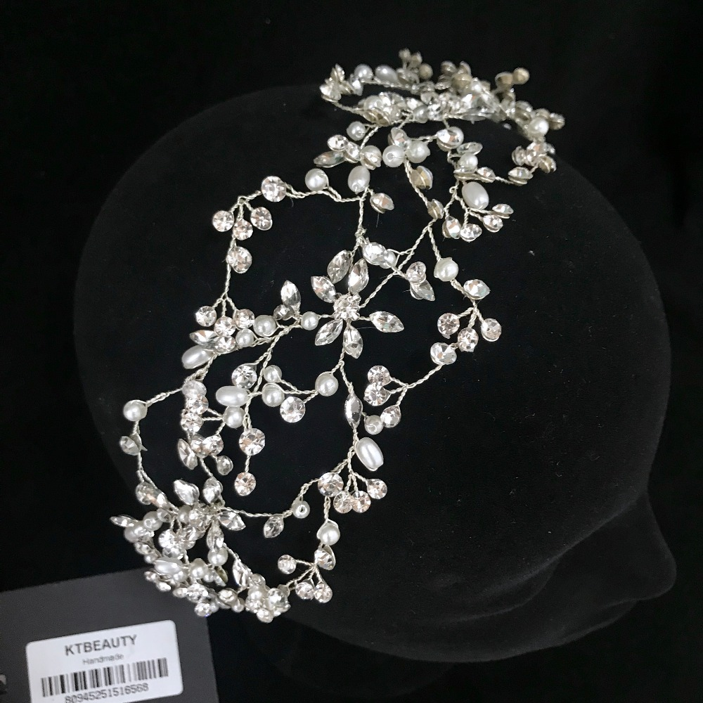 Rhinestone Silver Custom Made Handmade Hairpieces Hairband Royal Bridal Wedding Dressing Crown Accessory Women Jewelry