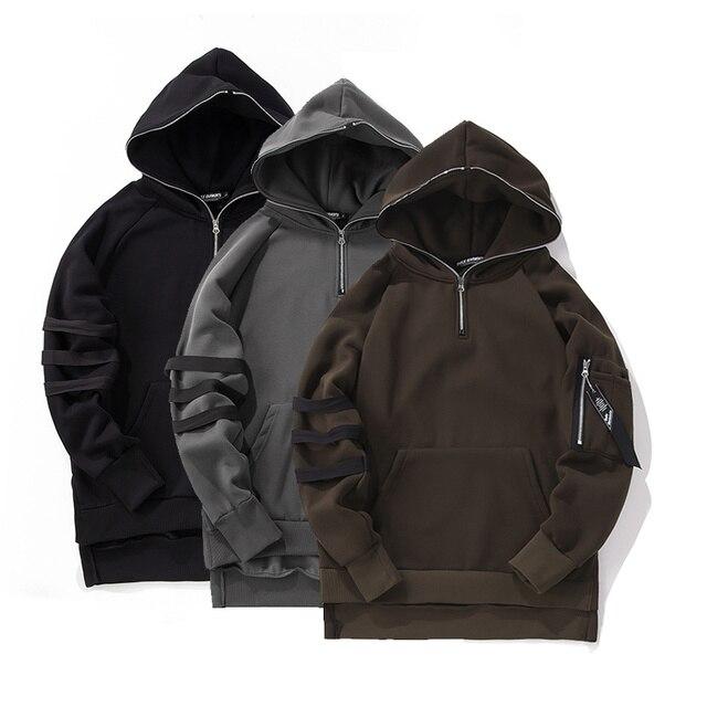 Mens kanye sudaderas con capucha hip hop sudaderas de la marca de ropa de los hombres 2017 de invierno gruesa street style mens clothing