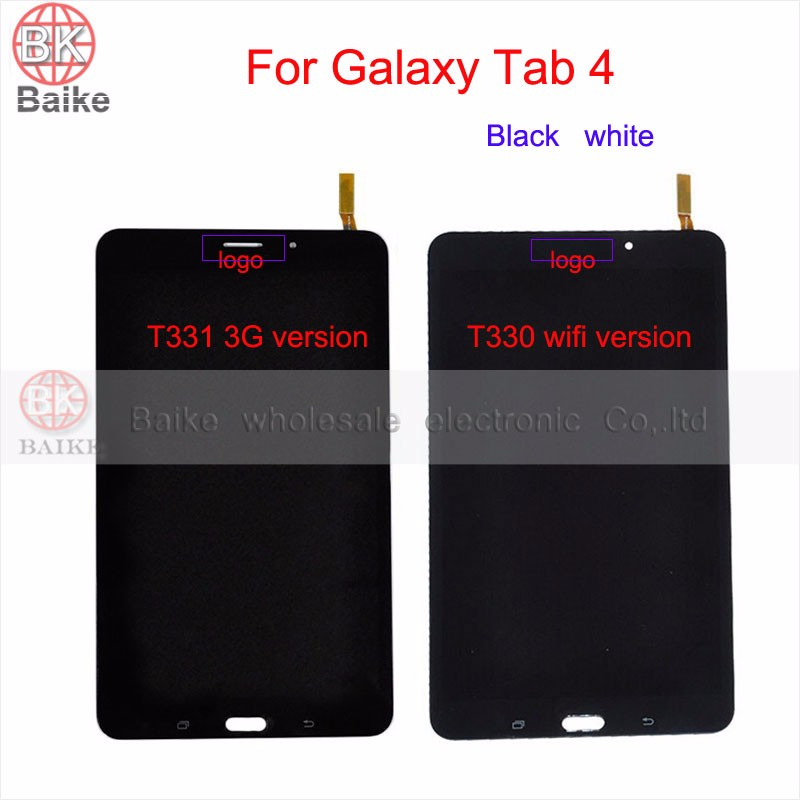 8 inch For Samsung Galaxy Tab 4 SM-T330 T331 T330 Lcd Display with Touch Screen Digitizer Full Assembly Black white