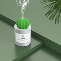 New Creative Cactus Design Ultrasonic Humidifier Air Purifier Mini Portable Aroma Humidifiers Office Desktop Mute USB