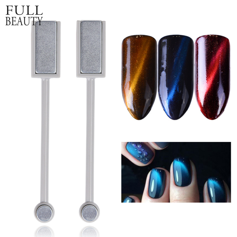 Full Beauty Double-end Cat Eye Magnet Stick 3D Magic Effect Gel Polish Varnish Line Stripe Charms Nail Magnetic Tools CH537-1
