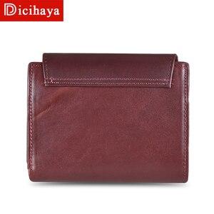 Image 5 - جديد وصول الاتجاه محفظة جلدية حقيقية الإناث المرأة المحفظة محفظة صغيرة جودة محفظة نسائية للعملات المعدنية النساء زر حقيبة مزودة بسحّاب محفظة