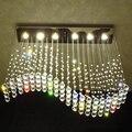 Роскошные светодиодные Хрустальные подвесные светильники  современный подвесной светильник  Хрустальная подвеска  прямоугольные подвесн...
