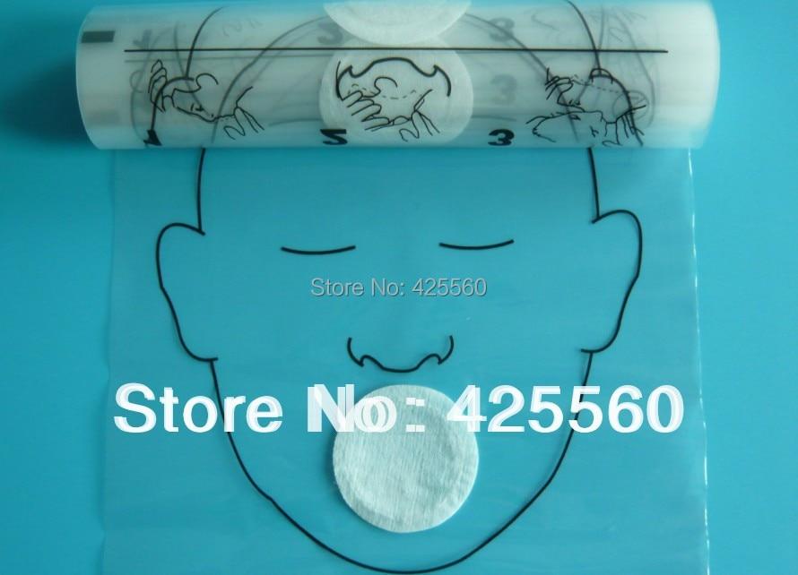 4 Rolls 36 komada / Roll CPR maske za lice Usta do usta spašavanja - Zdravstvena zaštita - Foto 2