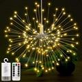 150 светодиодов  светодиодная гирлянда с фейерверком  8 режимов  взрывная звезда  медная проволока  сказочный свет  декоративная лампа  пульт ...