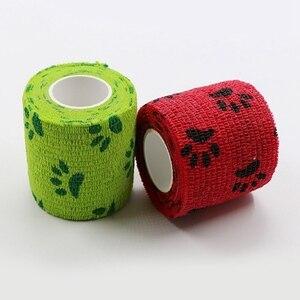 Image 4 - Açık bandaj ilk yardım kiti karikatür yapışkanlı elastik bandaj nefes alabilen bant renkli Pet bandaj