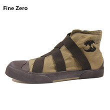 Fine Zero Men High Top Shoes Flats Slip On Casual Shoes Male Canvas Shoes Plimsolls Espadrilles Man Trainers Zapatillas Hombre