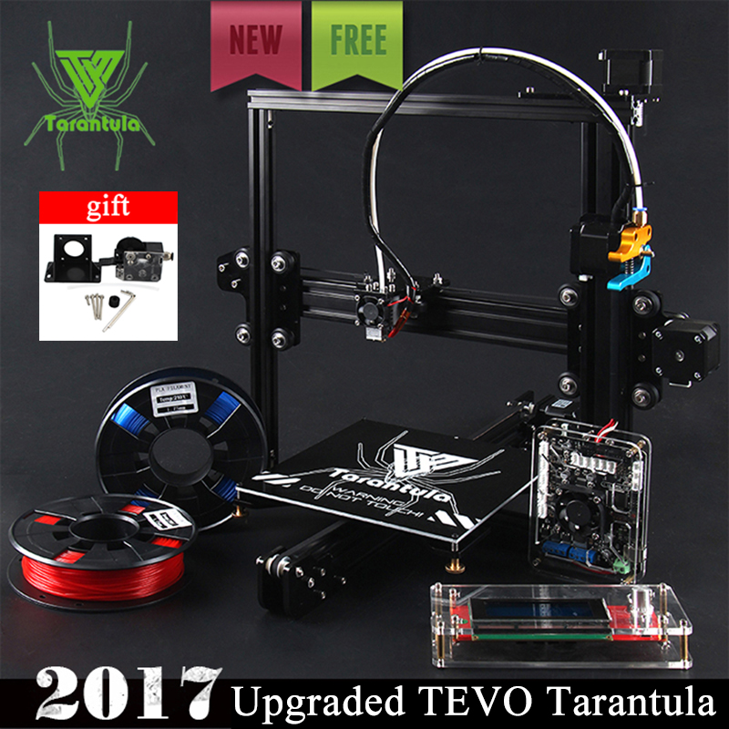 2017 Newest TEVO Tarantula I3 Aluminium Extrusion 3D Printer kit printer 3d printing 2 Rolls Filament 1GB SD card LCD As Gift large buid size newest kossel k280 delta 3d printer 24v 400w power with auto level and heat bed two rolls of filament gift