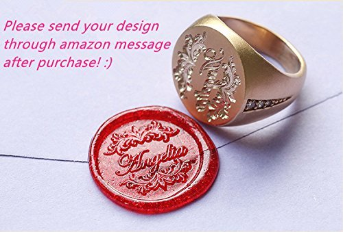 Custom Design Luxury Golden Wedding Ring Logo Personalized Name Letters Picture Wax Seal Sealing Stamp In Stamps From Home Garden On Aliexpress