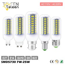 Koop 110V 220V E27 Led Lamp 72 69 56 Leds Festival Led Corn Bulb 5730SMD Led Verlichting B22 GU10 GU9 E14 Warm Wit 25 W 20 W 15 W(China)