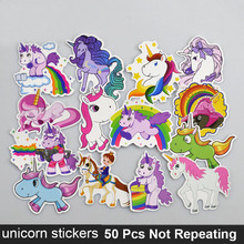50 Pcs Cartoon Unicorn Stickers For Moto Car Suitcase Laptop Skateboard  Phone Guitar Classic Kids Toys