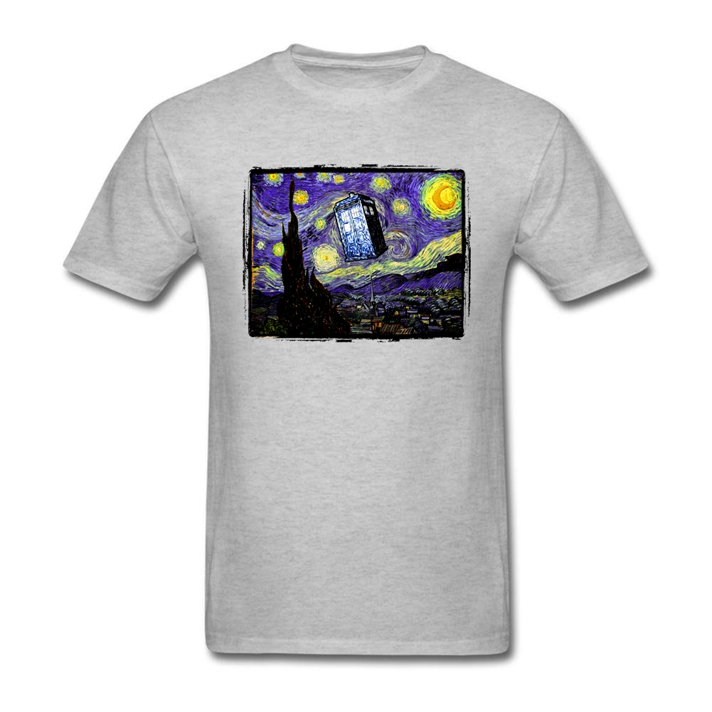 Design t shirt logo online - Hot T Shirt Plus Size The Tardis In The Starry Night Youth Cotton Shorts T