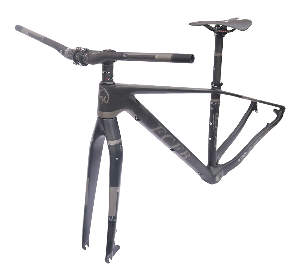 FCFB Bicycle 29er Carbon 3K Frame Chinese MTB Carbon Frame 15.5/17/19inch Carbon Mountain Bike Frame Disc Carbon Mtb Frame BSA