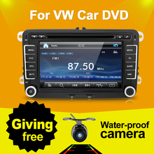 7 Pouce 2 Din Multimedial Voiture DVD GPS Navigation Pour VW GOLF 6 Nouveau Polo Nouvelle Bora JETTA B6 PASSAT SKODA 3G USB BT IPOD FM RDS Carte