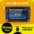 Bosion 7 дюймов 2 din мультимедийные VW автомобильный DVD GPS навигация для гольф 6 новый поло новый бора JETTA B6 PASSAT SKODA GPS карта