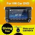 Multimedial de 7 Pulgadas 2 Din Car DVD de Navegación GPS Para VW GOLF 6 Nuevo Polo Nuevo Bora JETTA PASSAT B6 SKODA 3G USB IPOD BT FM RDS Mapa