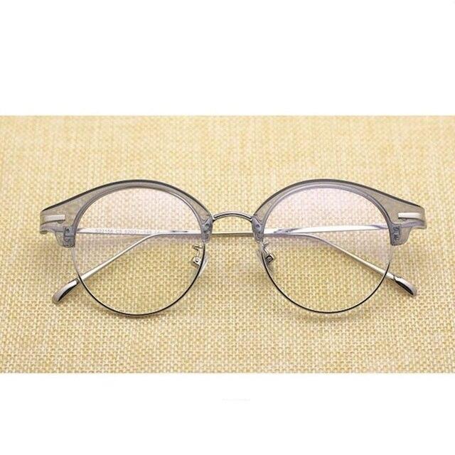 Vazrobe Transparente Óculos de Armação Mulheres Homens Metade Aro Armações  de Óculos Redondos para o Sexo 4cc15f2704