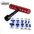 WHDZ набор 11 шт PDR набор инструментов Paintless Dent Repair Tools 1 шт красный T-Puller Bar с 10 шт клей вкладки Dent Tabs