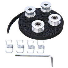 2pcs 20T GT2 Pulley + 2.5m Timing Belt + 2pcs Idler + 4pcs Tensioner with Wrench For 3D Printer