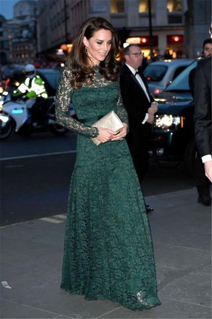 Prinzessin Kate Middleton Kleid 2017 Herbst Maxi Kleid Frau Kleid ...