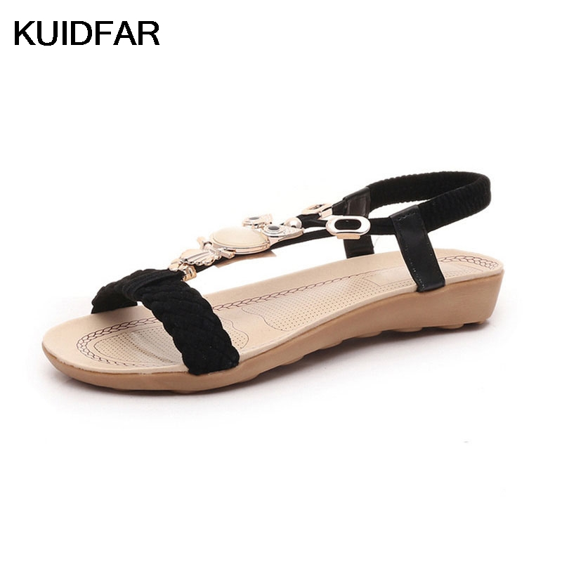 Plus Size 36-42 Women Sandals Fashion Shoes Woman Summer Gladiator Sandals Ladies Beach Shoes Flat Sandals phyanic 2017 gladiator sandals gold silver shoes woman summer platform wedges glitters creepers casual women shoes phy3323