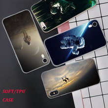 Silicone Case Spaceman Astronaut Printing for iPhone XS XR Max X 8 7 6 6S Plus 5 5S SE Phone Matte Cover