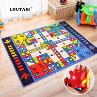 LOUTASI Ludo Pattern Play Mats Soft Carpets for Living Room Baby Activity Rugs Crawling Mat Kids Play Games Carpet Home Decor