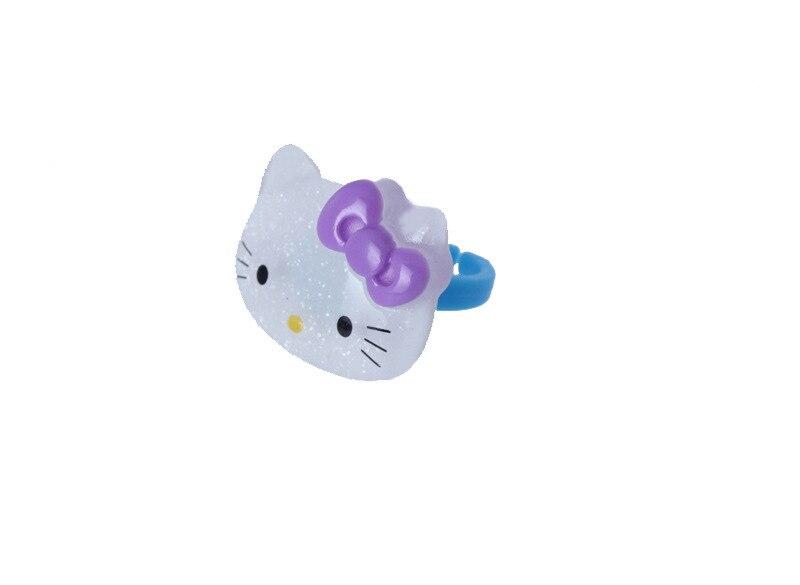 Новые дизайнерские прекрасный Hello комплект. ty кошка очарование дети кольцо ювелирные изделия Стиль безопасной смола Обувь для девочек пале...