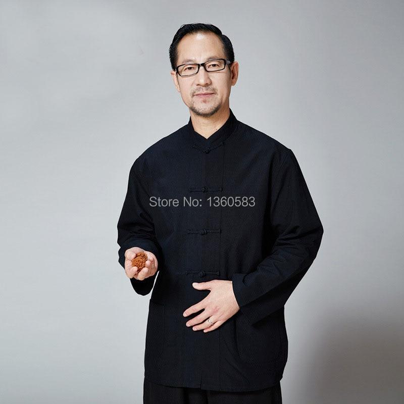 Традиционный китайский одежда для мужчин тан хлопка одежды кунг фу подходит для мужчин блузка рубашка hanfu кунг фу униформа