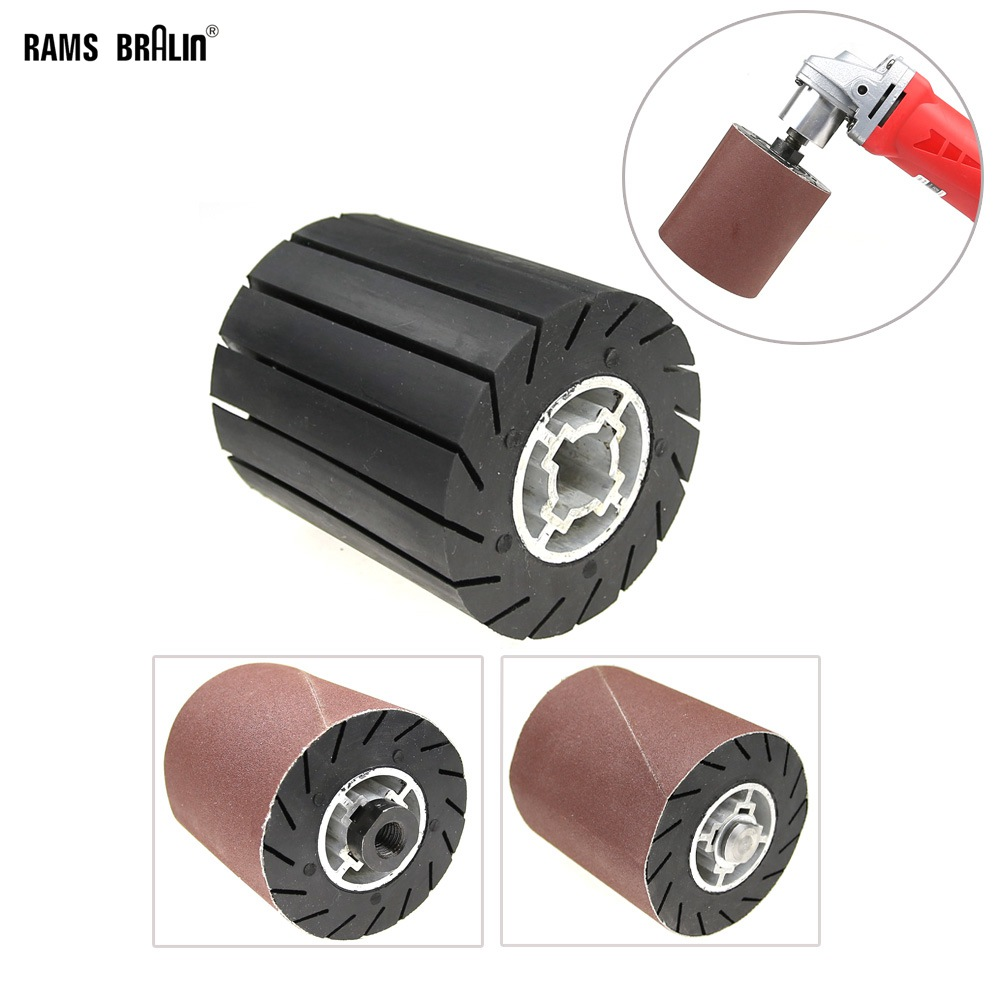90*100mm Rubber Expander Centrifugal Wheel / Sanding Sleeves / Adapter For Angle Grinder Metal Polishing Set
