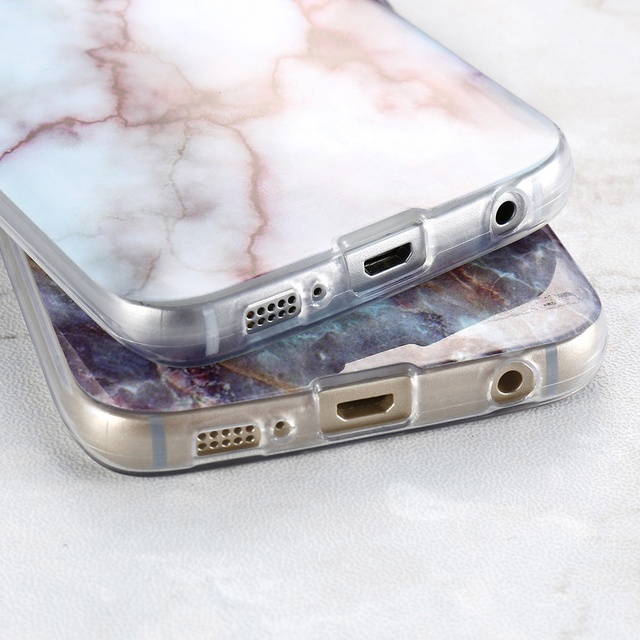 Soft Silicon Marble Skin Case Cover – Samsung