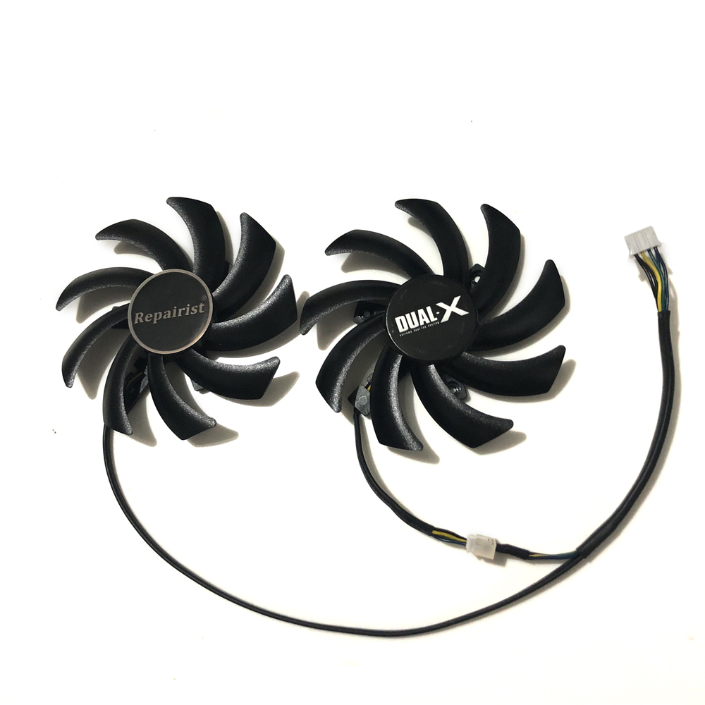 86mm FD7010H12S 4Pin Dual Cooler Fan For Sapphire R9 270X 280X HD7870 HD7950 HD7850 HD6850 Graphics Card Cooling