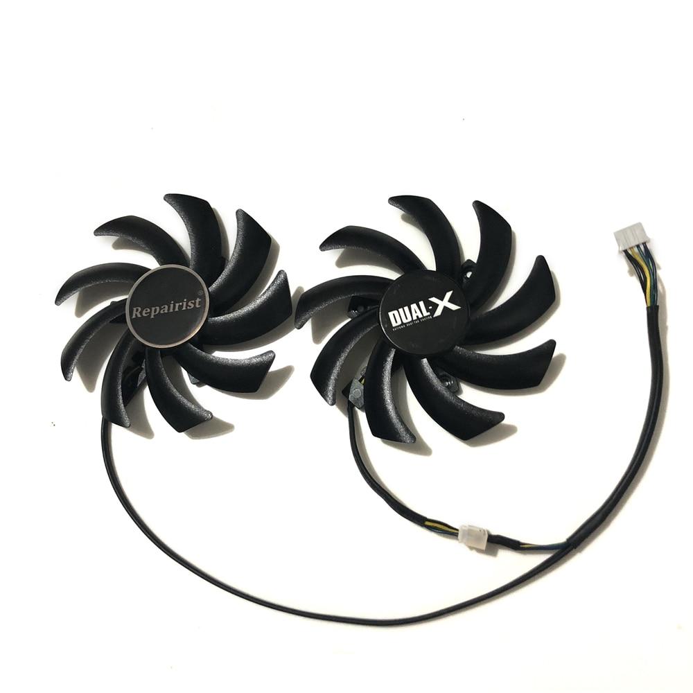 86mm FD7010H12S 4Pin doble ventilador para zafiro R9 270X 280X HD7870 HD7950 HD7850 HD6850 gráficos de refrigeración