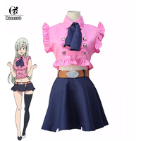 ROLECOS Japanese Anime Seven Deadly Sins Cosplay Elizabeth Liones Cosplay Costume Nanatsu no Taizai Cosplay Women Costume