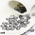 SS6 Black Diamond Strass Unhas, 1440 pçs/lote Plana Volta Non Hotfix Glitter Pedras Prego, Prego 3d DIY Telefones decorações Suprimentos