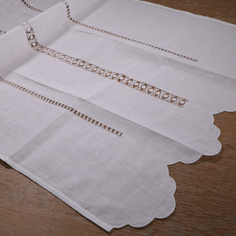 CL002 classic white hand made handmade drawn thread work curtain in Curtains from Home Garden
