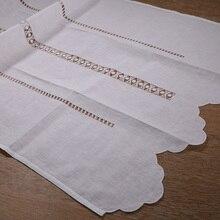 Cl002: cortina de trabalho artesanal branca clássica feita à mão