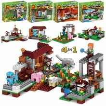 Купить с кэшбэком 390pcs Model Building kits Brinquedos set Figures Toys Sword Espada Compatible with Legoings For boys/girls 4Pcs/set
