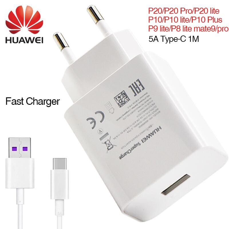 Huawei P20 pro P20 compagnon 9 10 Pro P10 Plus Super chargeur Mur Voyage Rapide Rapide Chargeur Adaptateur UE 5A type c Câble mate9 mate10